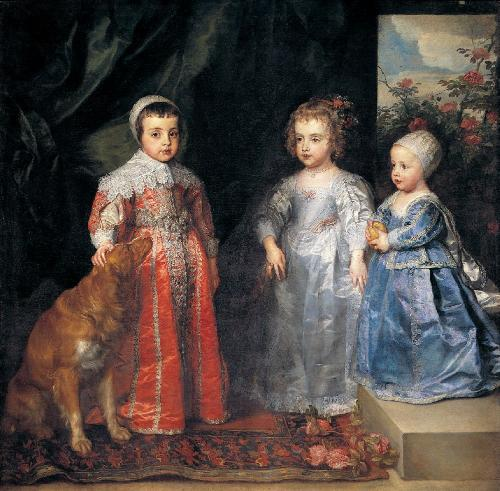 Antoon Van Dyck I figli di Carlo I d'Inghilterra 1635